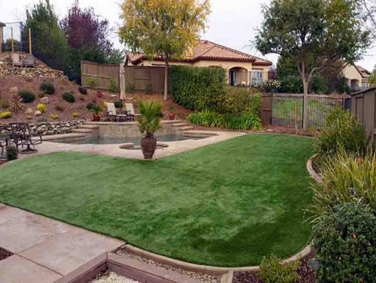 Faux Grass Yucca Valley, California Landscape Rock, Backyard Landscape Ideas artificial grass