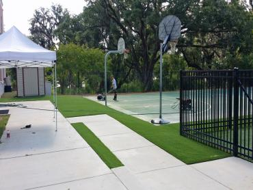 Artificial Grass Photos: Green Lawn Florence-Graham, California Bocce Ball Court, Commercial Landscape
