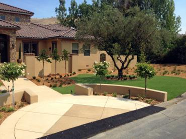 Artificial Grass Photos: Synthetic Grass Cost Lytle Creek, California Landscape Rock, Front Yard Design