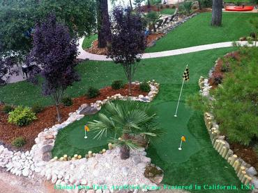 Synthetic Turf San Bernardino, California Golf Green, Backyard Design artificial grass