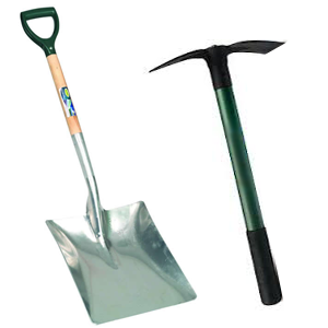 Artificial Grass Installation Shovel & Picks